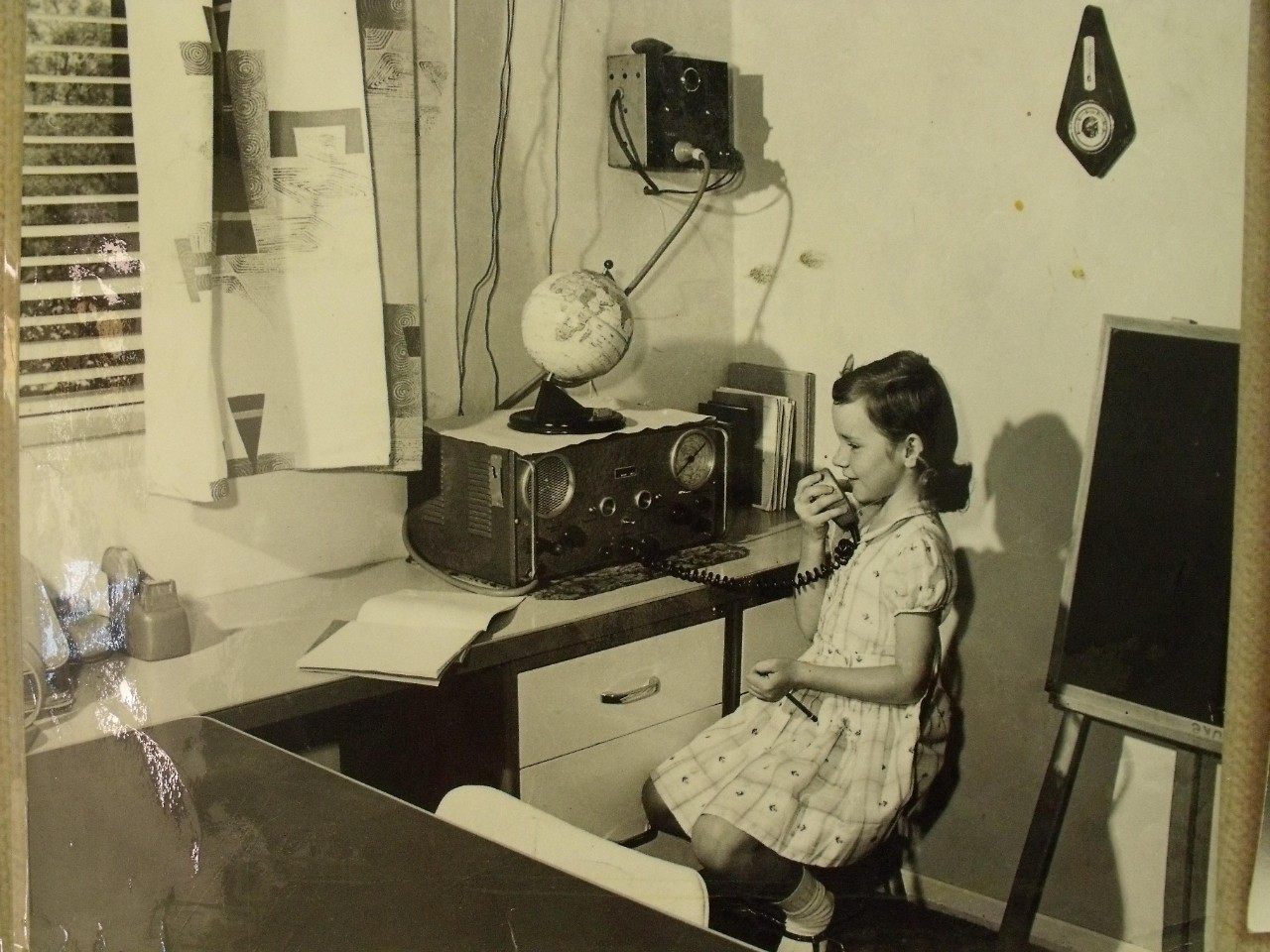 A young girl speaking over the Pedal radio